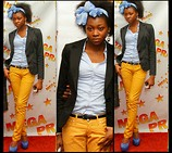 Melody Jacob - Brayon Brn Young Fashion (Pants), Woolworths Blazers Studio. W, Qupid Heels, Hair Band - PRAISE NIGHT.