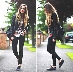 Anouska Proetta Brandon - Topshop Jeans, Le Bunny Bleu Shoes, Storets Jacket - The Message.