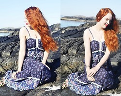 Marina Aurora Thorsen Ødegaard - Modcloth Maxi Dress - Mermaid shores