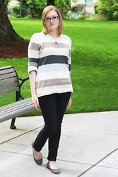 Chelsea P - Old Navy Sweater, H&M Skinny Jean, Target Flats - Boldly Striped