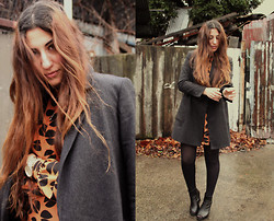 Yeliz S - Mango Coat, Vintage Dress, Asos Watch - Coffee Beans