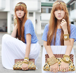 Camille Co - Eclectic Eccentricity Headpiece, Axis Watch, Stylista.Ph Maxi Skirt - The Hippie Goes For The Gold