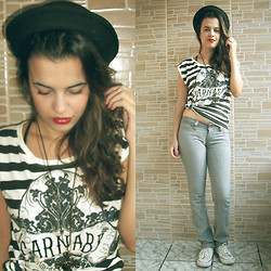 Daiana Brandão - Collision Store Hat, Riachuelo Shirt, South Pants, Converse Sneakers -  Cause everyone's perfect in unusual ways.
