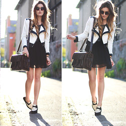 Anouska Proetta Brandon - Urban Outfitters Sunglasses, Chic Wish Jacket, Missguided Dress, Graftea Bag - A girl can dream.