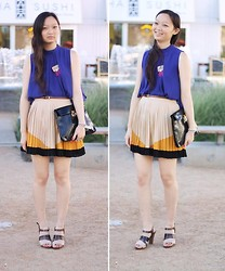 Jessica Wu - Sugarlips Pleated Skirt, Target Sandals, Gifted, Friend Sophie Clutch - Get in the Mix