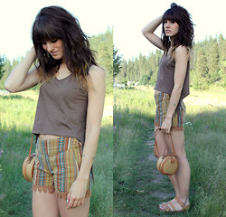 Tonya S. - Camote Soup, Shorts, Vintage Bag - Into the Great Wide Open