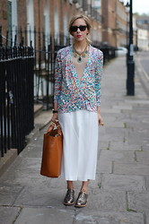 Daniella Robins - Saloni (Last Years) Cardigan, Miu (Last Years) Skirt, Jil Sander (Last Years) Brogues - Sweet Sundays