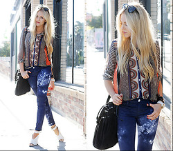 Shea Marie - Zara Top, David Kahn Pants - Prints on Tye Dye