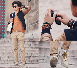 Ayoub Mani - Eyewear John Franco Ferre, H&M Accesoir & Aldo, Pull & Bear Ties And, Zara Chino, Zara Shoes - Life is only a dream