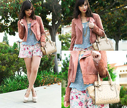 Chesley Tolentino - Target Jacket, Fox House Shorts - Floral Birdies
