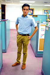 Marky Garcia - Solo Slim Fit Pants, Wade Wingtips Shoes, Ralph Lauren Belts, Gift Button Down Polo - Meet the Boss!