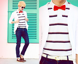 Jaye Santos - Unknown Bowtie, Japan Polo Shirt, Paporma Carrot Pants - Oh Boy