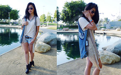 Stephanie Liu - Nepali By Tdm Design Vest, Urban Outfitters Boots - In a light daze