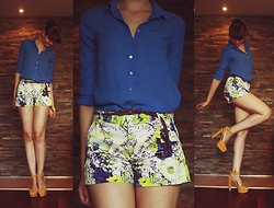 Ewa B. - Reserved Shirt, Zara Shorts, Zara Heels - Summer nights