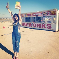 Wild At Heart - Jeffrey Campbell Usa Flag Shoes, Overalls, Vintage Crochet Halter - FIreWorks!!!