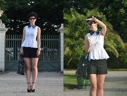 Borjana R. - H&M Blouse, H&M Shotrs, Bag, Oasap Sunglasses, Zara Shoes - Truly madly deeply