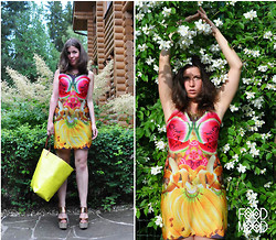 Dasha Farsh - I Design Dress And Print), Zara Bag, Topshop Shoes, My Bananas And Watermelons)) - A diploma!FOOD MOOD - branding