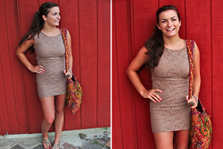 Francescaa N. - Forever 21 Tan Dress - I'M GLAD YOU CAME