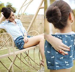 Kryz Uy - Clothes For The Goddess Shorts, Cole Vintage Earrings - The Under Dog