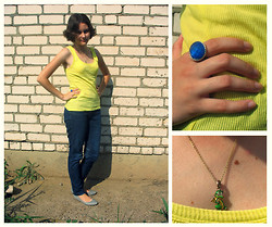 Daria Kalnova - O'stin Vest, New Yorker My Favourite Jeans, Lady Collection Ring - One sunny day