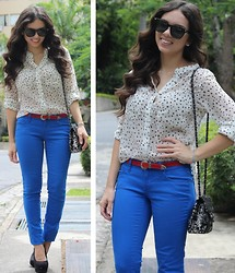 Daniela Ramirez - Blog, Beginning Boutique Top, Beginning Boutique Belt, Jc Penney Jeans, Mimi Boutique Bag, Furor Moda Sunglases, Payless Shoes - Red, white, and blue!
