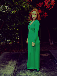 K K. - Frock You Vintage Green Dress - City of Emerald