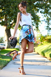 Ashley M - Zara Skirt, Zara Sandals, Alexander Wang Bag - Tropical