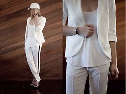 Render Sublime - Romwe Pants, 3.1 Phillip Lim Sandals - White on white ... again