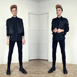 Joachim Kullberg - Sewed By Me Cap, Sewed By Me Jacket, H&M Shirt, Dr Denim Jeansmakers Jeans, Dr. Martens Boots - In too Deep