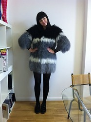 Maggie Matic - House Of Holland Pantone Sheepskin Coat, Underground Black Creepers - Found love in the HoH archive.