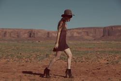 Wild At Heart - Lyndsey Thornburg Ombre Mini Dress, Jeffrey Campbell Boot - Middle of no where.