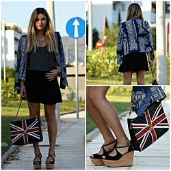 Fashionable J - Zara Blazer, Chanel Bag, Zara Shoes, Zara Shorts - Blue Black.