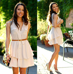 Jessica R. - Blaque Muse Nude Dress, Very Honey Leopard Print Bag - Creme Brulee + 720four Giveaway