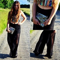 MELLi S - Select Pants, River Island Skirt (Used As A Top), Lindex Bag - : Out of my mind. Back in five minutes.