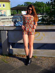 Selina Ra - Primark Jumpsuit, H&M Boots - Off to the races