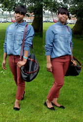 Adelaide Chitanda - H&M Denim Shirt, H&M Trousers, Zara Bag - One more stupid love song & I'll be sick!