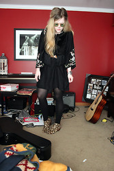 Kristina Janelle - Forever 21 Fringe Vest, Lucky Brand Embroidered Dress, Sam Edelman Leopard Print Petty Ankle Boots - We're Going Wrong