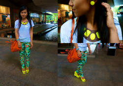 Ganna Athena G - Aldo Earrings, Topshop Top, Zara Pants, Primadonna Shoes, Prada Bag - 3 Days 'Til I Turn 20: TROPICAL