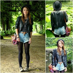 Agata P - Romwe Shorts, New Look Jacket, Shoes - NEVERMORE - Enemies Of Reality