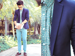 David Guison - Topman Blazer, Topman Button Down, Topman Pants, Topman Loafers - Sharpened