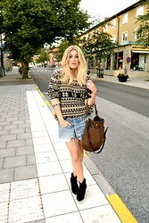 Viola Bergström - Weekday Sweater, Ellos Shoes, Levi's® Skirt, Marc By Jacobs Bag - Sweet like cinnamon