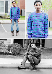Kevin-João LaShawn - Thrifted Vintage Sweater, 510 Skinny, Ralph Lauren Wolcott Oiled - Ad Nauseum