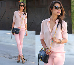 Annabelle Fleur - Pink & Pepper Pumps, Rebecca Minkoff Bag, Paige Jeans, Ivi Vision Sunnies - Mini On My MInd