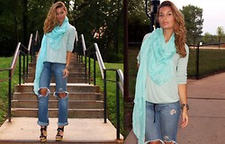 Alisha G. - Calvin Klein Sweater, Charlotte Russe Scarf - Into the Blue