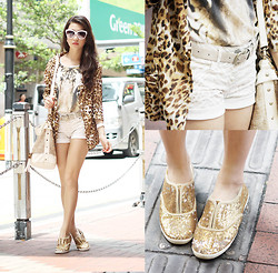 Kryz Uy - Glam Effect Blazer, Closet Goddess Animal Print Top, Romwe Sunnies - Wild One