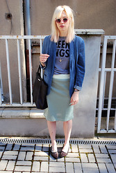 C V - Asos Sunglasses, H&M Blazer, Glamour Kills Tee, Cos Skirt, Cheap Monday Shoes, Mango Bag - Angst