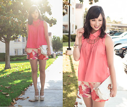 Chesley Tolentino - Blaque Muse Top, Ann Taylor Shorts - Watercolor Blush
