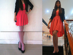 Riianne J - Topshop Court Shoes, Mango Mullet Dress, H&M Black Blazer - A dress to have <3