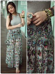 Grace Ng - Topshop Maxi Skirt - Summer Kaleidoscope