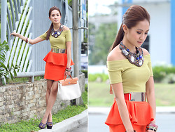 Laureen Uy - Sugar Kissed Necklace, Vintage Top, The Closet Goddess Skirt, Hermës Bag, Marni Shoes - Natural Luminosity (BMS)